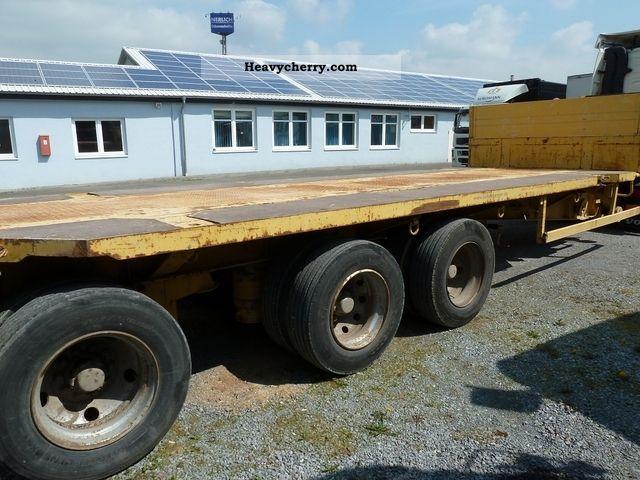 Dual Wheel Axles For Trailer : Van hool trailer axle dual wheels low loader