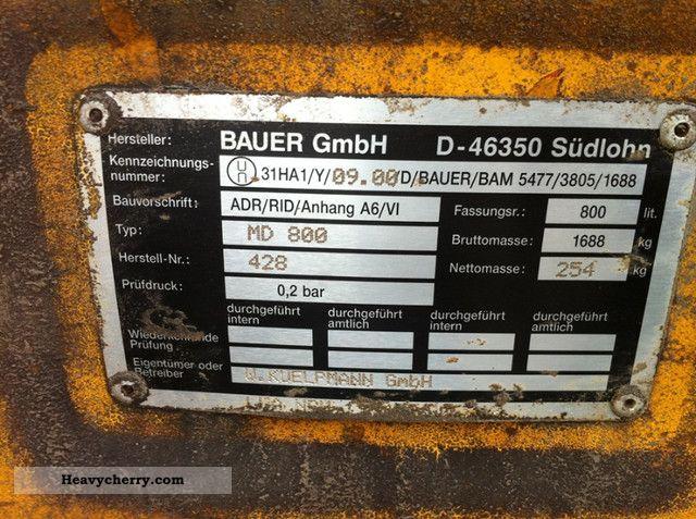 Bauer mobile filling station filling station MD 800 2011 ...