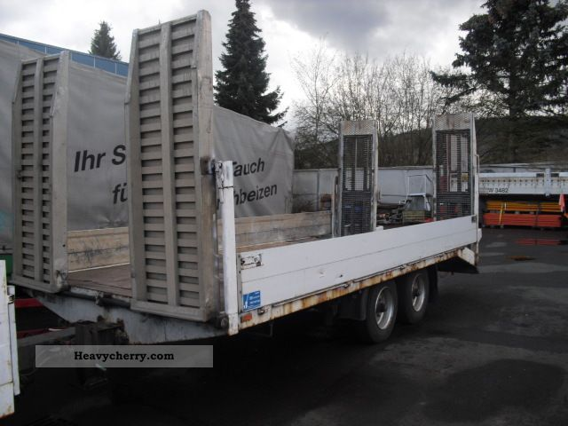 1998 Other  Low loader 10.5 to - front \u0026 rear ramps Trailer Low loader photo