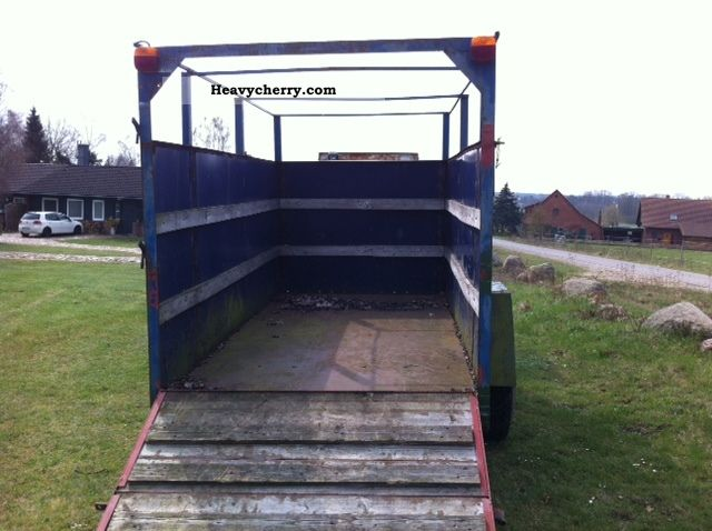 Livestock Trailers For Tractors Metal Base 1995 Cattle