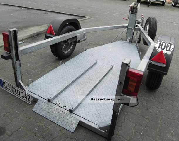 motorcycle trailer can be lowered ground level 2001 other trailers photo and specs. Black Bedroom Furniture Sets. Home Design Ideas