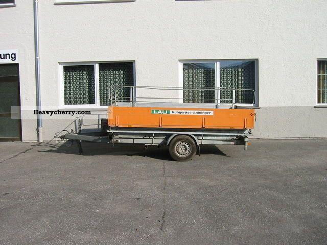 Hydraulic Platform Trailers : Scissor lift hydraulic work platform trailer photo