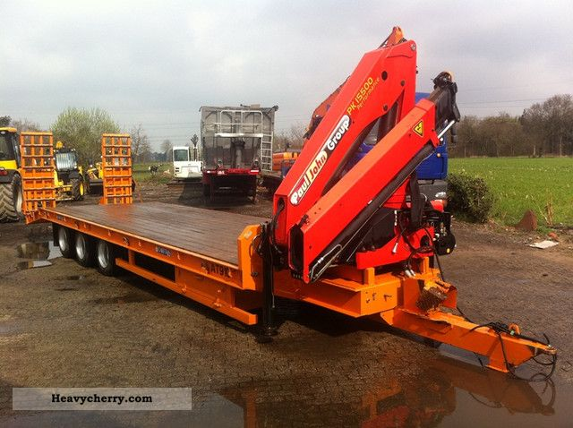 Chieftain 27to Trailer Palfinger Crane 15 500 2009 Low Loader Trailer Photo And Specs