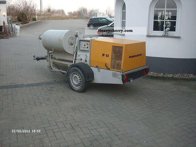 1998 Other  Putzmeister screed pump SP11 tile line Construction machine Other construction vehicles photo