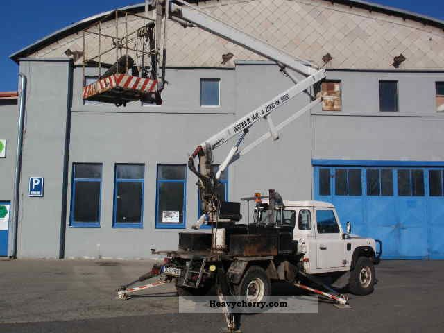 1998 Other  Land Rover Defender 4x4 Van or truck up to 7.5t Hydraulic work platform photo