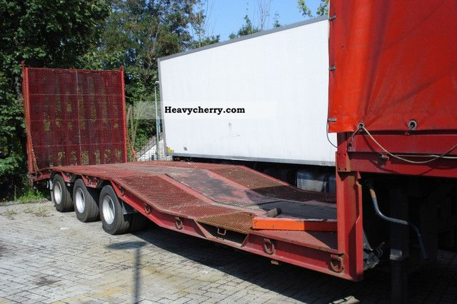 1999 Other  Schroeder, Wiesmoor ST10/24-100277BAEU Semi-trailer Low loader photo