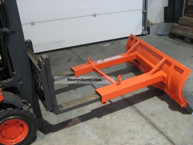 Used Forklift Snow Blades : Forklift snow plow front mounted truck photo