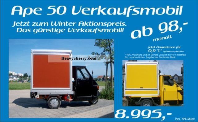 2011 Other  Piaggio Ape 50 selling hot dog coffee yield. Van or truck up to 7.5t Traffic construction photo