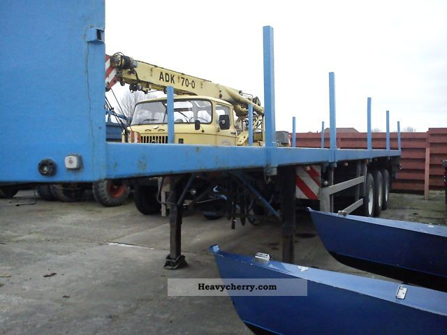 1990 Other  Trailers, platform, Telescopic steering, axle Semi-trailer Platform photo