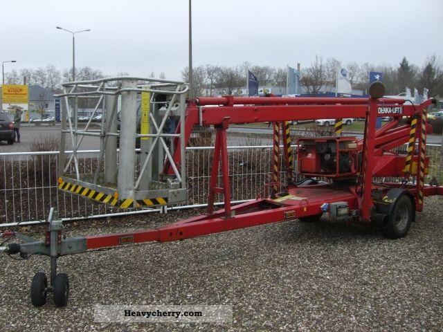 Hydraulic Platform Trailers : Denkalift dl hydraulic work platform trailer photo