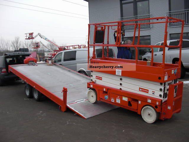 Hydraulic Platform Trailers : Moetefindt hubarbeitsbühnentransporter t hydraulic