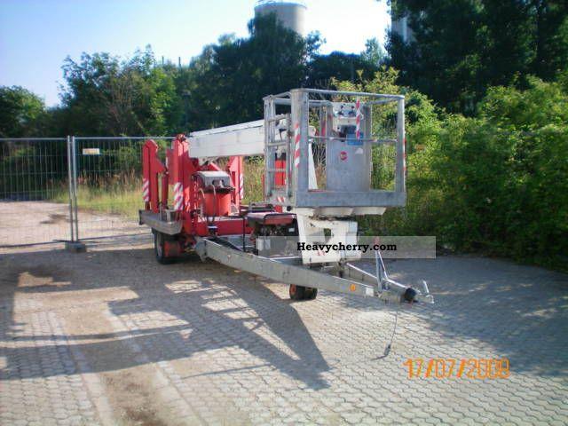 Hydraulic Platform Trailers : Teupen tl h hydraulic work platform trailer photo