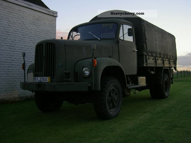 1975 Other  Saurer 2DM Truck over 7.5t Stake body and tarpaulin photo