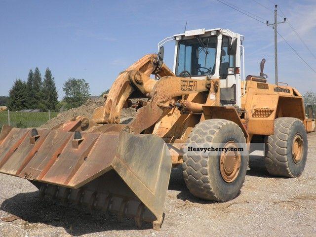 1998 Liebherr  551 Construction machine Wheeled loader photo