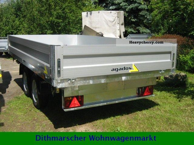 2012 Agados  Dreiseitenkipper AGADOS ATLAS 2500 kg Trailer Three-sided tipper photo