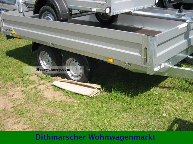 2012 Agados  VZ 33 flatbed trailers 2500 kg 3300 mm x 1700 mm Trailer Trailer photo