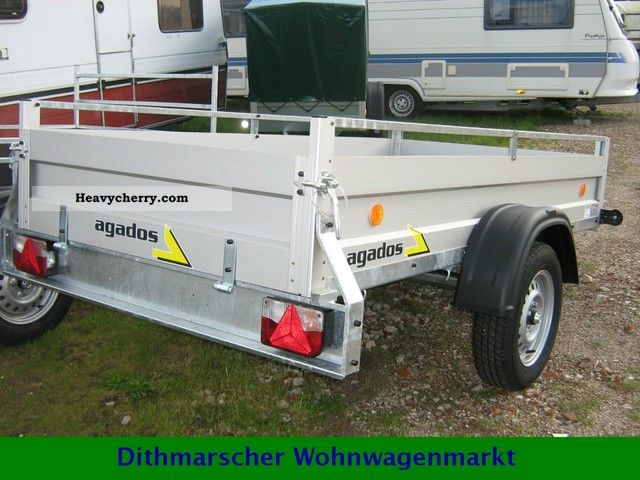 2012 Agados  1200 kg braked aluminum trailer VZ 26 new vehicles Trailer Trailer photo