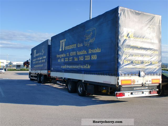 Volvo FH12-420 with tandem trailer!. 2004 Stake body and tarpaulin Truck Photo and Specs