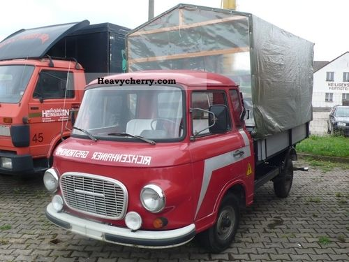 1977 Barkas  B1000 platform with benches in the back Van or truck up to 7.5t Stake body photo
