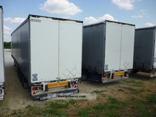 2003 Benalu  Libner tautliner 3 axles BPW Semi-trailer Stake body and tarpaulin photo