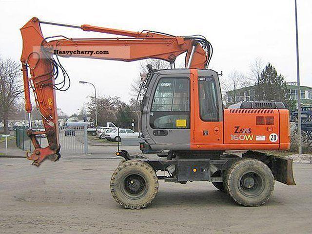 2004 Hitachi  ZX160W Construction machine Mobile digger photo