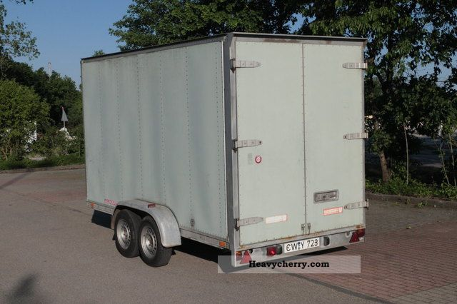 Auwarter Auwärter Tandem Trailer With Furniture Box Body