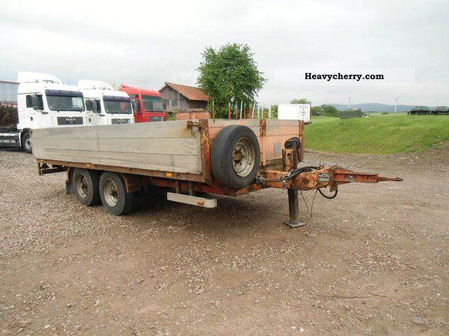 1992 Blomenrohr  Blomenröhr ANH open box 8.5 tonnes Trailer Stake body photo