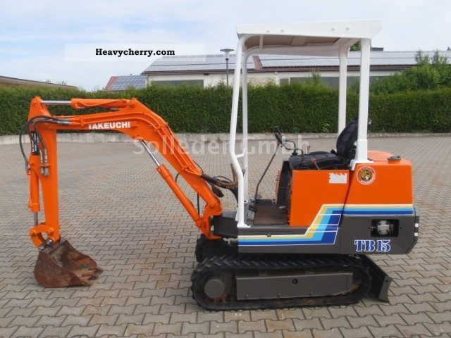 1993 Takeuchi  TB 15 Construction machine Mini/Kompact-digger photo