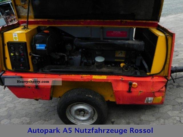 Atlas Copco XAS 90 compressor 4 cylinder Deutz 1450kg 1989 Other