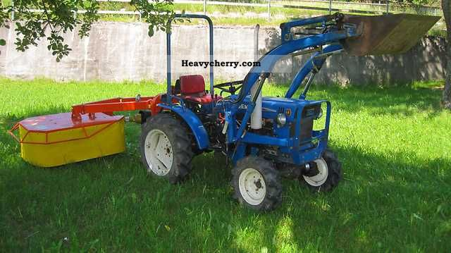 1981 Iseki  TX 1500 F Diesel, front loader, mower Agricultural vehicle Tractor photo