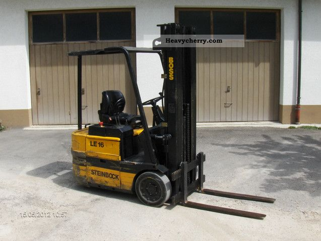 1990 Steinbock  LE 16 triplex Forklift truck Front-mounted forklift truck photo
