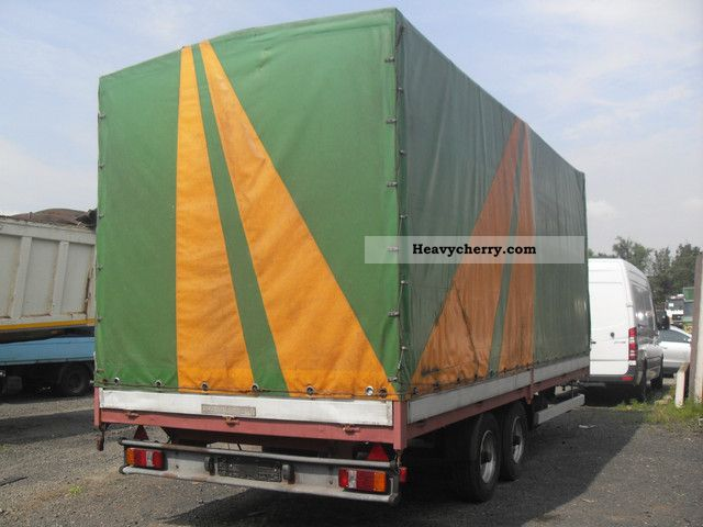 1992 Annaburger  NFZ GmbH tandem trailer Trailer Stake body and tarpaulin photo