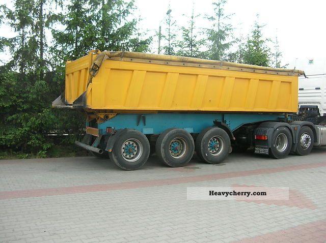 2003 Wackenhut  Naczepa wywrotka niemiecka Semi-trailer Tipper photo