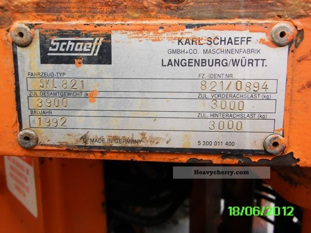 schaeff skl 830
