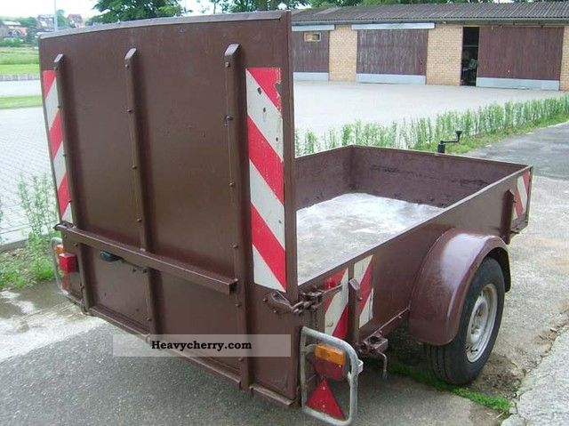 1992 Hoffmann  Trailer with ramp Trailer Stake body photo