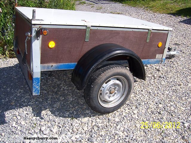 1998 Auwarter  Auwärter trailer with lid Trailer Stake body photo