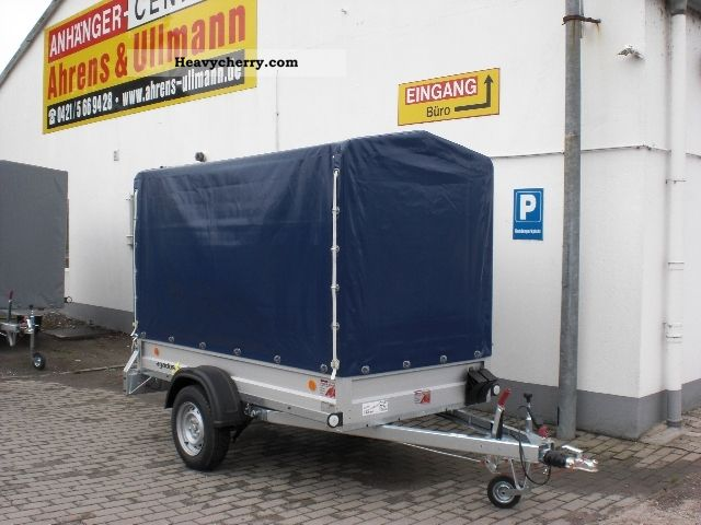 2012 Agados  Plan trailer 1200kg aluminum 249x124x150cm Trailer Stake body and tarpaulin photo