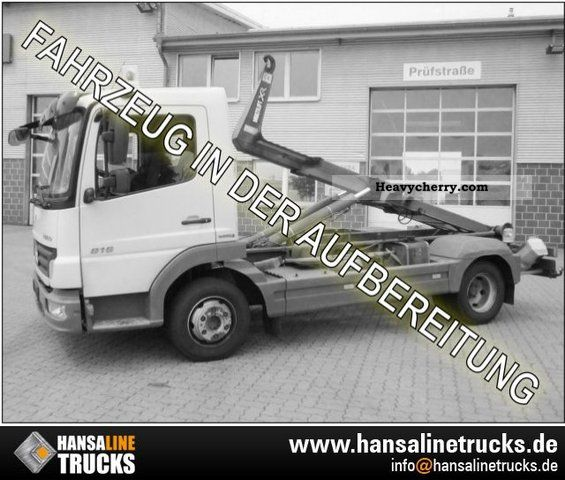 2007 Mercedes-Benz  816 Atego 4x2 hook lift for air / R CD / NSW Van or truck up to 7.5t Roll-off tipper photo