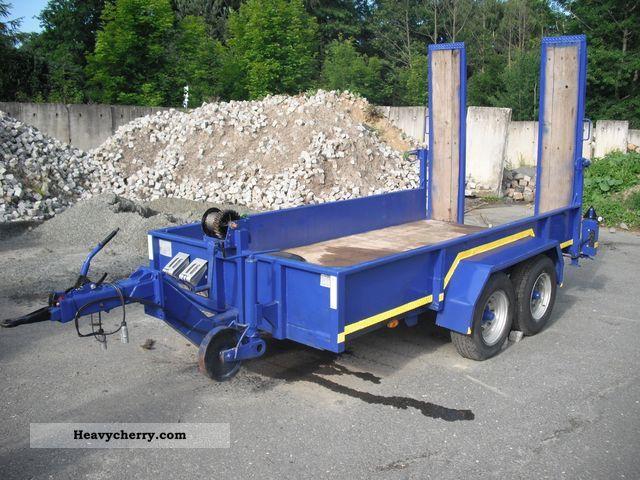 blomenrohr blomenröhr 4 2t trailer rebuild 1986 low loader trailer