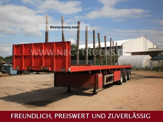 1996 Faymonville  Platoo-suited for transporting steel-2 X STEERING AXLE Semi-trailer Platform photo