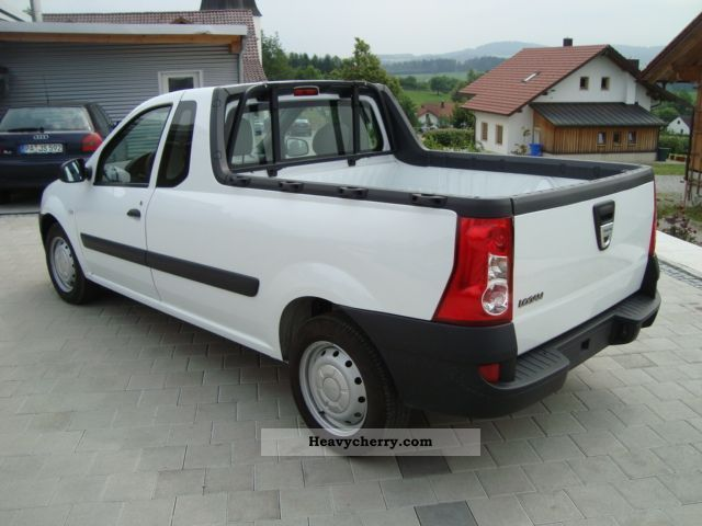dacia logan pick up 1 6 mpi 85 ambiance 2011 stake body and tarpaulin truck photo and specs. Black Bedroom Furniture Sets. Home Design Ideas