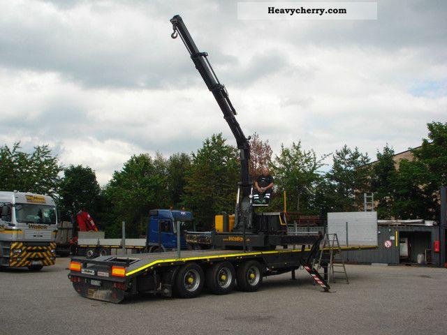 1997 Meusburger  Sanh platform with a mobile crane Kennis Semi-trailer Platform photo