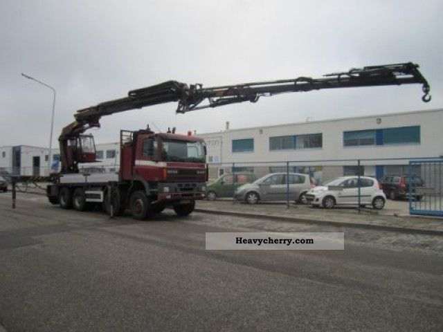 2000 DAF  85 8X4 MET EFFER Kraan 360 + JIP Truck over 7.5t Stake body photo