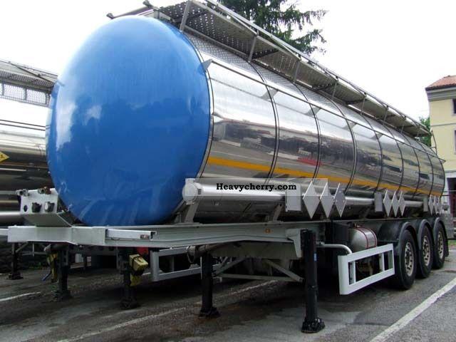 2000 Menci  OPRA chemistry - ADR - 3 compartments - Heating - print Semi-trailer Tank body photo