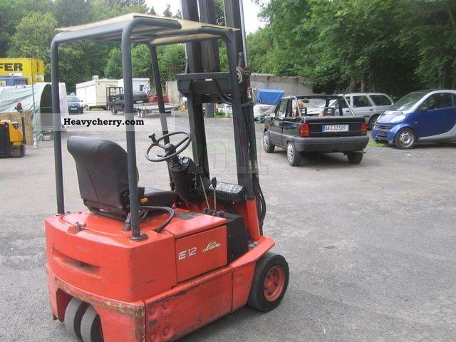 1993 Linde  E12 Forklift truck Front-mounted forklift truck photo