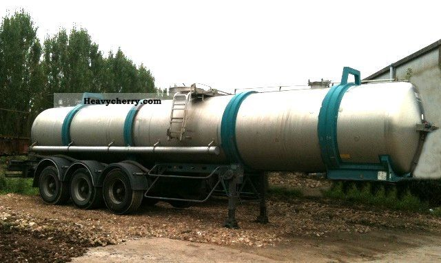 1988 Magyar  For liquid fertilizers or treacle -12 500, - EURO Semi-trailer Tank body photo