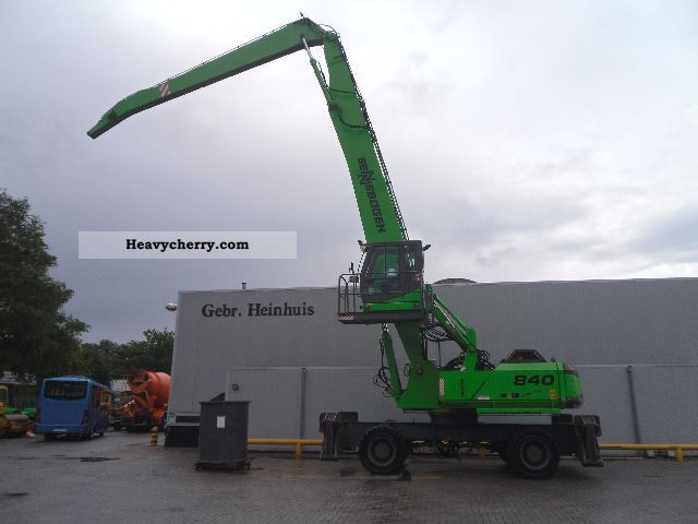 2006 Sennebogen  840 M extra-special Pilon 1.5 m Construction machine Mobile digger photo