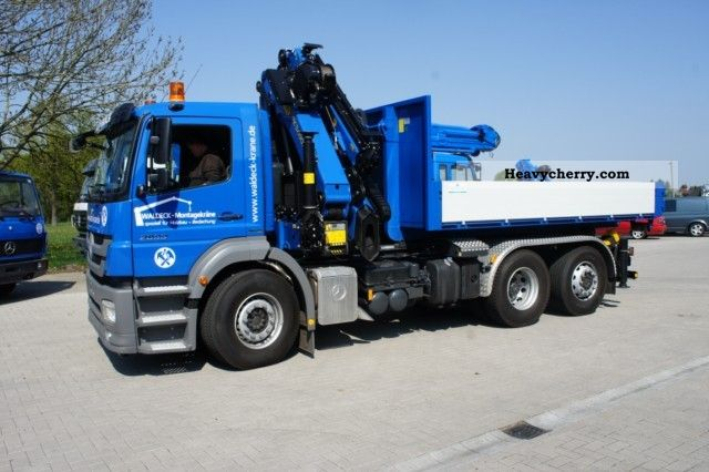 2012 Mercedes-Benz  New! Crane assembly, Hook, radio, cable winch Truck over 7.5t Truck-mounted crane photo