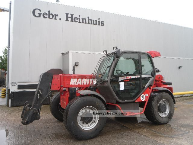 2009 Manitou  MHT 860 L Forklift truck Telescopic photo