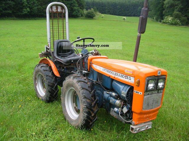 1978 Carraro  Supertigre 635 Agricultural vehicle Tractor photo